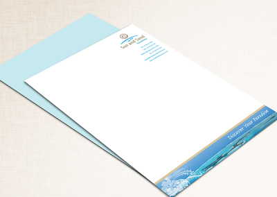 Sun and Sand Vacations Letterhead Design