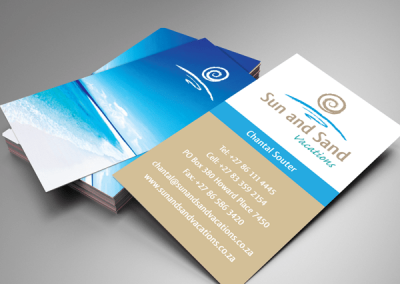 Business Card Design Sun and Sand Vacations