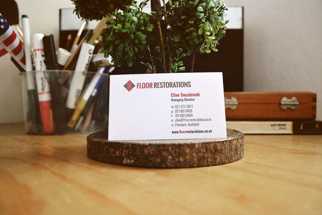 Floor Restorations Business Card Design