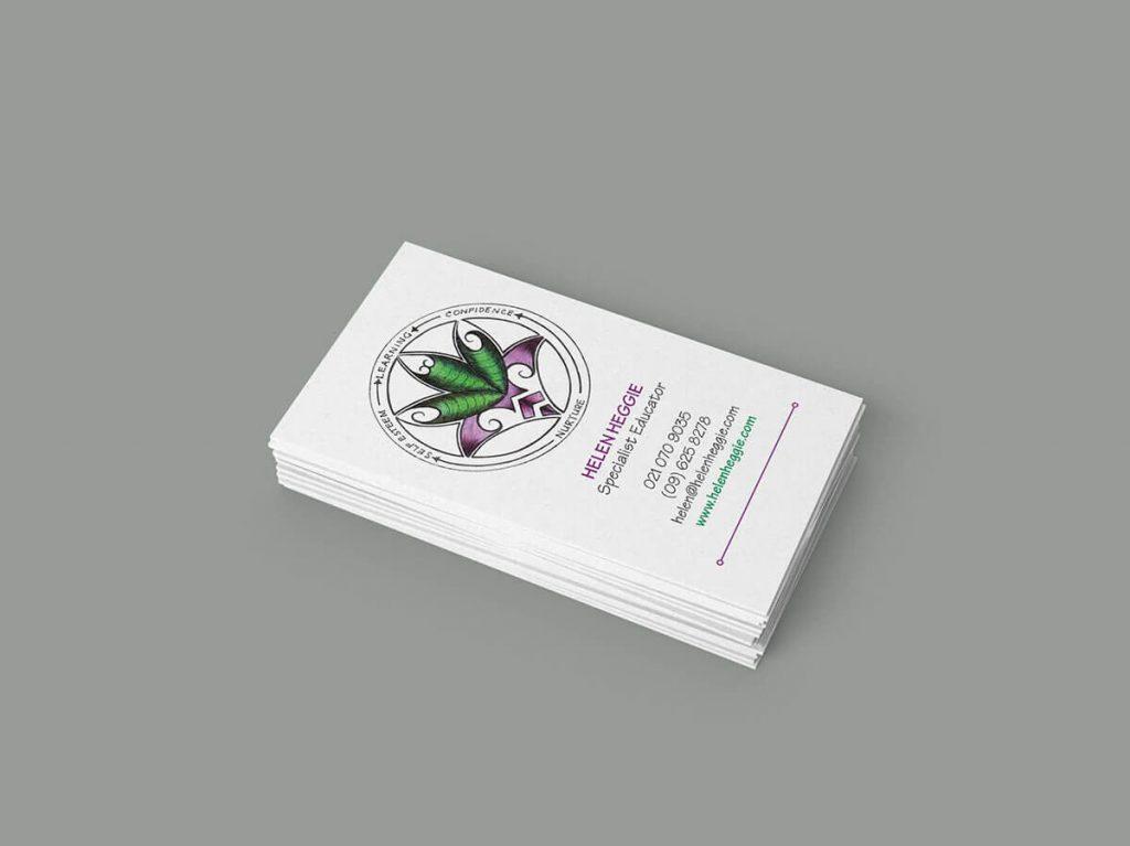 Helen Heggie Business Card Design